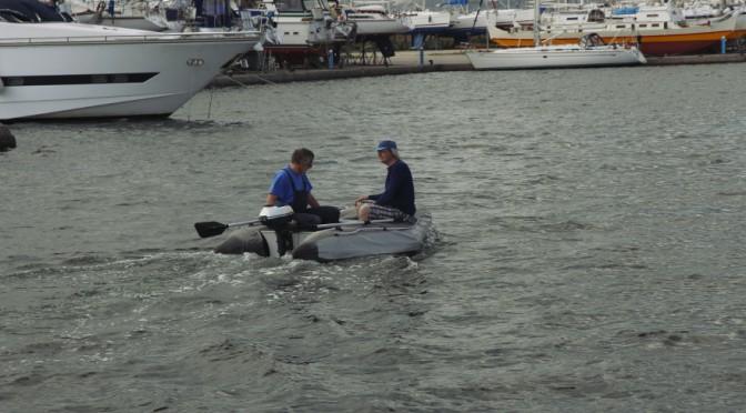 Spaß im Hafenbecken