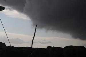 Aufziehendes Unwetter auf Errikousa