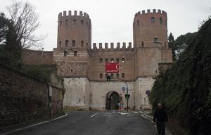 Tor des San Sebastiano an der Via Appia Antica