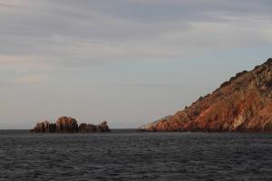 Rote Felsen auf Korsika