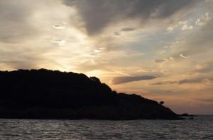 Sonnenaufgang in der Ankerbucht