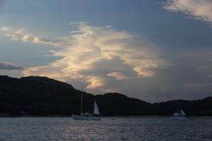 Wolkenbeobachtung auf Korsika