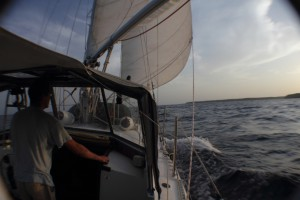 Segeln nach Punta Salinas
