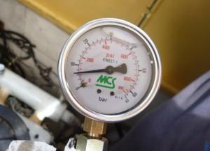 mechanisch gemessener Öldruck