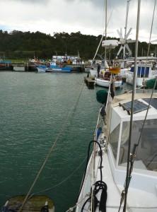 Leinenverbindung vom Fischersteg zum Schwimmsteg