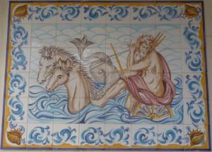 maritimes Azulejo in Nazaré