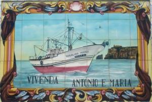 "Azulejo mit Fischtrawler ""Rosalina Maria"""