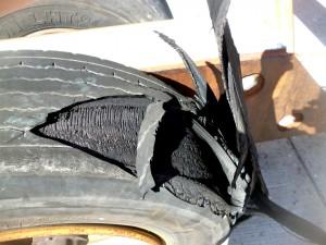 geplatzter Reifen
