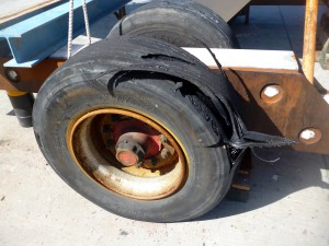 geborstener Reifen