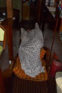 Schlafen auf der Biskaya