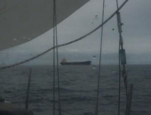 Frachter auf der Biskaya