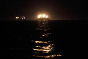 Westhinder Reede bei Nacht