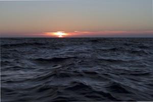 Sonnenuntergang im Englischen Kanal