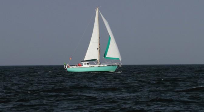 SY Nereide auf dem Weg nach Cuxhaven