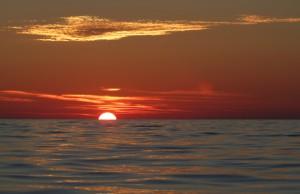 Sonnenuntergang auf der Nordsee