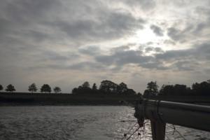 Flussfahrt auf der Oste