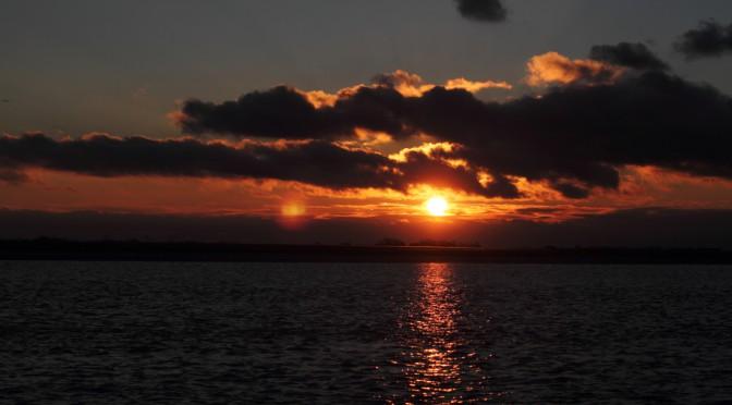 Sonnenuntergang auf der Oste