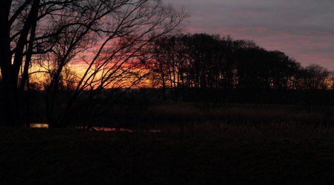 Sonnenuntergang Oberndorf