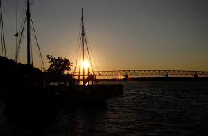 Sonnenuntergang Alte Brücke Middelfart