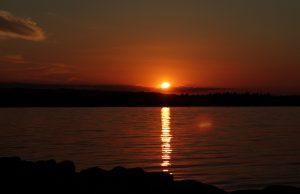Sonnenuntergang in Juelsminde